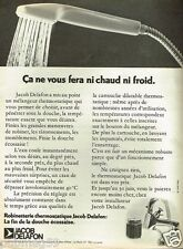Publicité advertising 1972  La Robinetterie Jacob Delafon