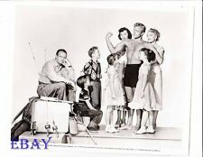 Richard Denning barechested Tommy Rettig VINTAGE Photo Weekend With Father
