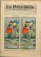 Le Pêle-Mêle n°22 - 1901 -  Sauve qui peut par Benjamin Rabier - Humour -