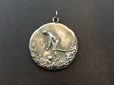 EARLY SOCCER 1916 STERLING SILVER WITH HALLMARKS SPORTS MEDAL