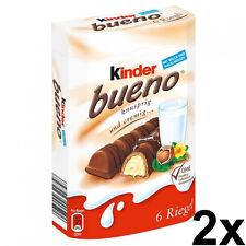 2x Ferrero Kinder Bueno Chocolate 2x 6 piece box - 21,5g each