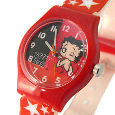 Betty Boop Ladies Girls Reloj bty05c Rojo