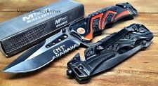 MTech BALLISTIC Assisted Opening Rescue EMT ORANG Glass Breaker RESCUE Knife NEW
