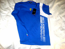 SCUDERIA FERRARI MULTI LOGO LICENSED SOFT COTTON T SHIRT-EMBROIDERED PATCH-NWT S