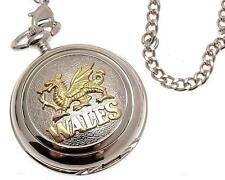 Pocket watch Two Tone Wales Dragon quartz mechanism