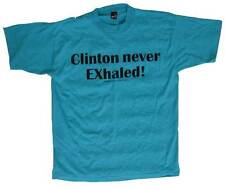 Non-PC TEES--Poly/Cotton--Free Ship--Emerld L Clinton Never Exhaled