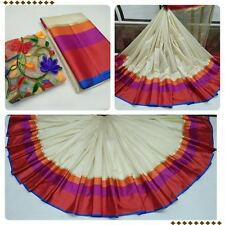 MakeMyFashion cotton silk printed saree with unstitched blouse