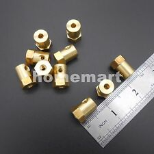 10PCS 4mm Shaft Motor Flexible HEX Coupling Coupler for Wheel tyre + 4 Spanners