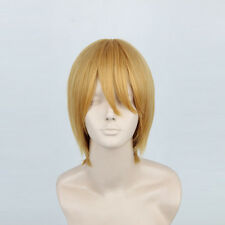 Adult Yellow Short Straight Wig Cosplay Kuroko's Basketball Kise Ryota Man Wig