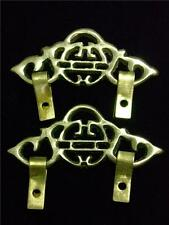 Chinese BATS & HAPPINESS Picture Brass Hanger Hardware S