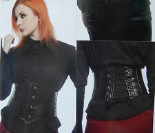 LIP SERVICE BLACKLIST CORE VEGI LEATHER CORSET CINCHER NWOT 27-154 M