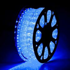 150' Flex LED Blue Rope Light 2-Wire Outdoor Home Decoration Party Lighting