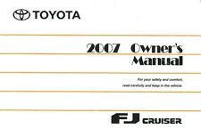 2007 Toyota FJ Cruiser Owners Manual User Guide Reference Operator Book Fuses