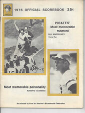 1976 PITTSBURGH PIRATES OFFICIAL SCOREBOOK - THREE RIVERS STADIUM