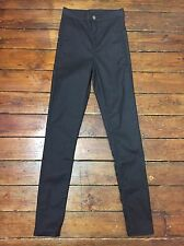Topshop Moto Skinny Jeans Coated Joni Black Sz 12 W30 to fit L32 Defect 32#