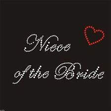 Rhinestone Crystal iron on T Shirt Design - Niece of the Bride with Heart