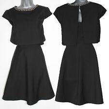 *MONSOON*Black Crepe Dress Boasts Flirty Ruffle&Artfully Layered Back Cutout 12
