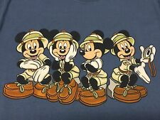 Mickey Mouse Small T-Shirt Safari Cartoon Animal Kingdom Walt Disney World Land