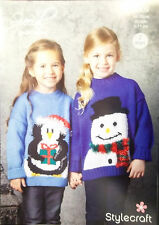 "Stylecraft Christmas DK Knitting pattern Childs Jumper 20""-30"" 9309"