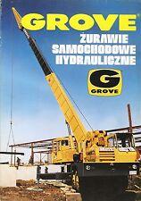 Grove Model Range  1975 catalogue brochure mobile crane Mobilkran Poland rare
