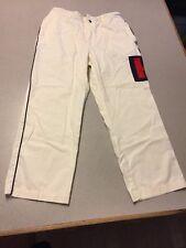 Vintage Men's Tommy Hilfiger Pants White Cotton 34 x 30 EUC Embroidered H