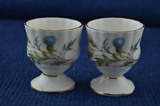 Lovely Royal Albert Brigadoon x2 ''Egg Cups'' Bone China Made In England RD7149