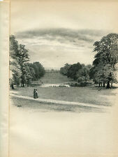 KENSINGTON PALACE, THE VISTA; ORIGINAL LITHOGRAPH by THOMAS R WAY 1902 367/400