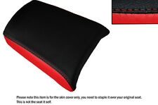 RED & BLACK CUSTOM FITS MEGELLI 125 S R 09-13 REAR PILLION LEATHER SEAT COVER