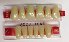 Acrylic False Teeth For Dentures. Accutone,shade 69upper & lower Anterior 267set