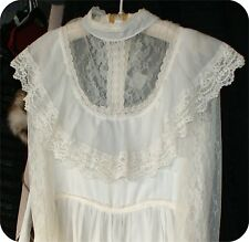 JESSICA STYLE  GUNNE SAX DESIGNER RETRO 1960S VINTAGE LACE cream bridal  DRESS