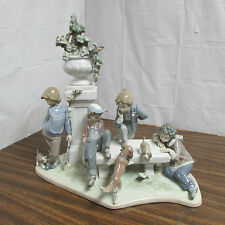 "Vintage Lladro ""Puppy Dog Tails"" #5539 Collectible Figurine Look!!!"