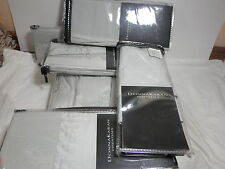 7 pc Donna Karan CITY STRIPE Full/Queen Duvet Pillowcases Euro Shams - Opal $995