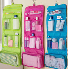 Travel Toiletry Bag Organizer Cosmetic Case Makeup Beauty Bag Hanging  blue red