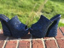 Jeffrey Campbell Dayana navy glitter heels size 7.5 new in box