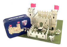 Gift in a Tin - CASTLE IN A TIN - BUILDING KIT Wooden Model Construction Set New