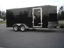7x16 IN STOCK NOW !! Enclosed Trailer Cargo V Nose Motorcycle 8 Landscape Tandem