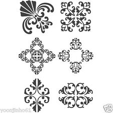 "STENCIL WALL STENCILS NEW 16.53""x11.69"" Airbrush PVC TEMPLATE LARGE antique2"