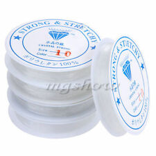 2 x Crystal Elastic Thread Cord Transparent Beading Bracelet Making