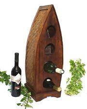 WEINREGAL HOLZ BAMBUS Weinständer Flaschenregal Weinhalter Wein-Regal Weinhalter