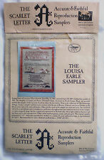 """The Scarlet Letter """"The Louisa Earle Sampler"""" Counted Cross Stitch Kit"""