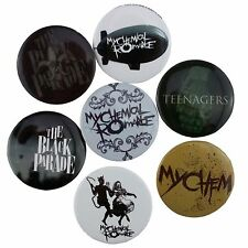 7 x 38mm My Chemical Romance Button Badge Set New Official Band Merch