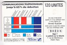 VARIETE TELECARTE CORDON .. 120U Ko56 GEM1B ALPHABET MELANGES 9O23 b C.60€