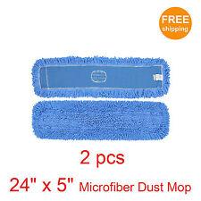 """2pcs. 24"""" x 5"""" SunnyCare #25242-2pcs Blue Microfiber Dust Mop"""