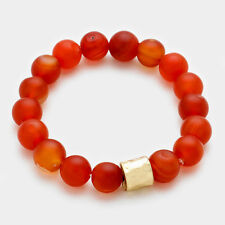 Carnelian 10mm stretch bracelet