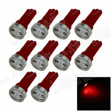 10X Red T5 1 COB LED Dashboard Licence Plate Speed Wedge Light Car Bulb B003