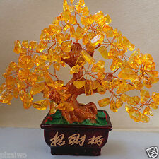 AAA+++ Lucky tree!!! Natural pretty citrine yellow crystal gem tree 348g hot