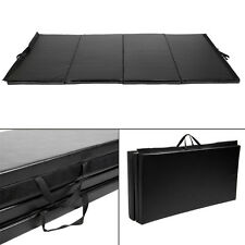"Goplus Black 4'x10'x2"" Folding Panel Gymnastics Mat Gym Fitness Exercise Mat"