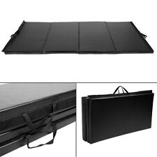 "Goplus Black 4'x10'x2"" Folding Panel Gymnastics Mat Gym Fitness Exercise Ma"