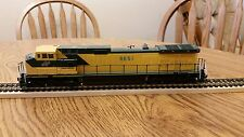 Athearn Blue Box HO Scale Powered GE CNW C44-9W Locomotive C6 Very Good