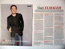 COUPURE DE PRESSE-CLIPPING : Gad ELMALEH  [3pages] 11/2014